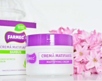 Crema gel matifiantă cu Bambus de la Farmec