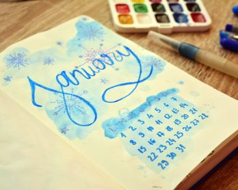 Bullet Journal pe luna ianuarie, plus o surpriza FREEBIE